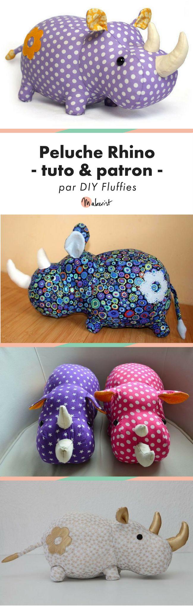 Tuto - Tutoriel - Patron - Peluche - Rhino - Couture - DIY - Fluffy