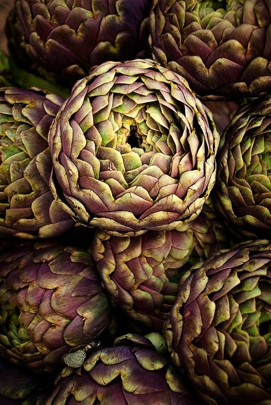 Artichokes. Love the color and texture.