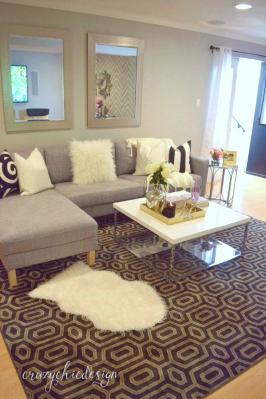 Create a modern  yet cozy living space using furry  fluffy throws and  pillows to soften the lines of modern finishes  Available at HomeGoods. 105 best Home Accents images on Pinterest   Decorating ideas