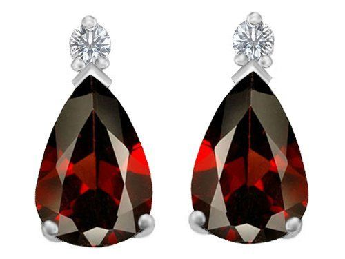 Original Star K(tm) 9x6mm Pear Shape Genuine Garnet Earring Studs in 925 Sterling Silver Star K. $79.99. Guaranteed Authentic from the Star K designer line. Star K. Designs are exclusive and protected by Copyright Laws. Save 50%!