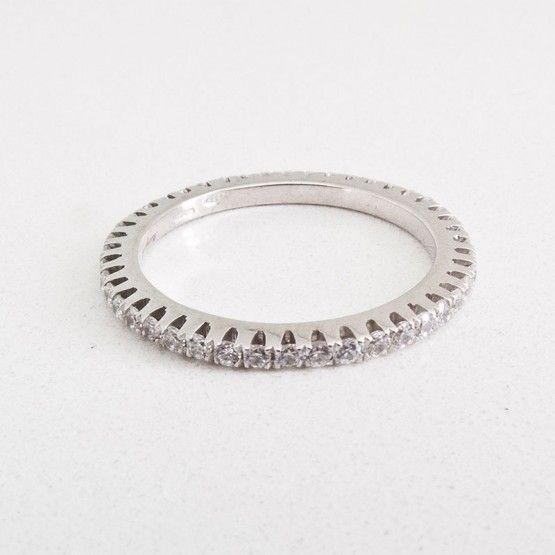 Silver Cataforesi and White Swarovski Ring $340.00- Margaux Wenger Bijoux
