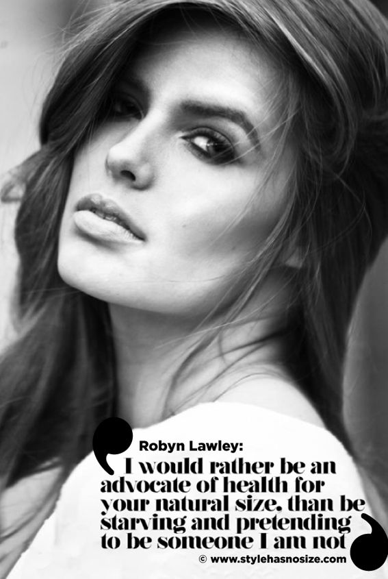 Plus size model, Robyn Lawley. LOVE her and her blog!