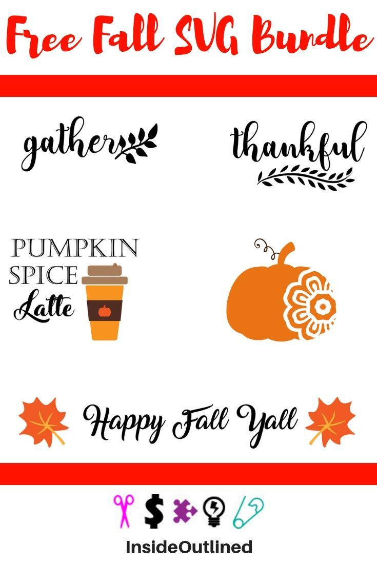 Free Fall Svg Bundle Insideoutlined Happy Fall Y All Happy Fall Silhouette Crafts