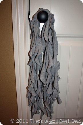 Ruffle scarf! (I seen these in the store, but the lady wanted so much for them. I figure it's probably cheaper to DIM.) :)