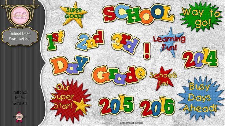 CLGraphics School Daze Word Art