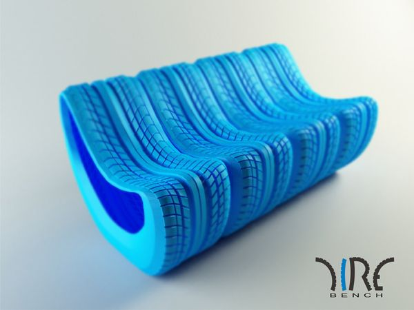 Tire bench by David Szabo, via Behance AWESOME!