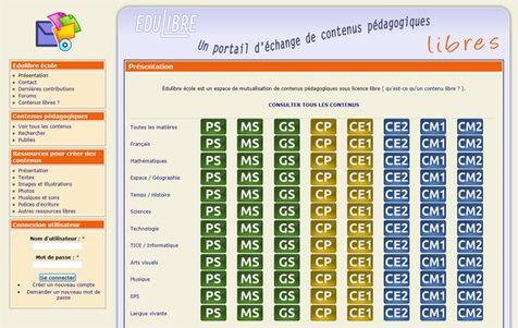 Un portail d'échange de contenus pédagogiques sous licence libre de la Petite Section au CM2 |