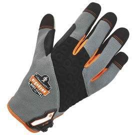 Ergodyne Size 2X Hi-Viz ProFlex® Neoprene And Armortex® And Tena-Grip™ Full Finger Anti-Vibration Gloves With Hook And Loop Cuff
