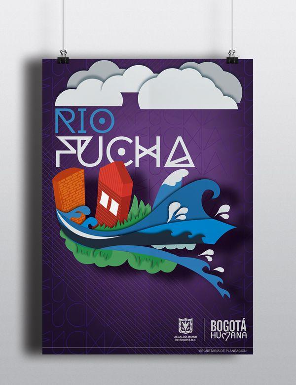 Poster River Ilustration