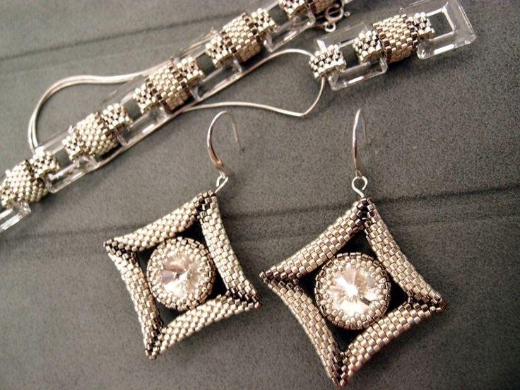 Серебряные звезды | biser.info - всё о бисере и бисерном творчестве