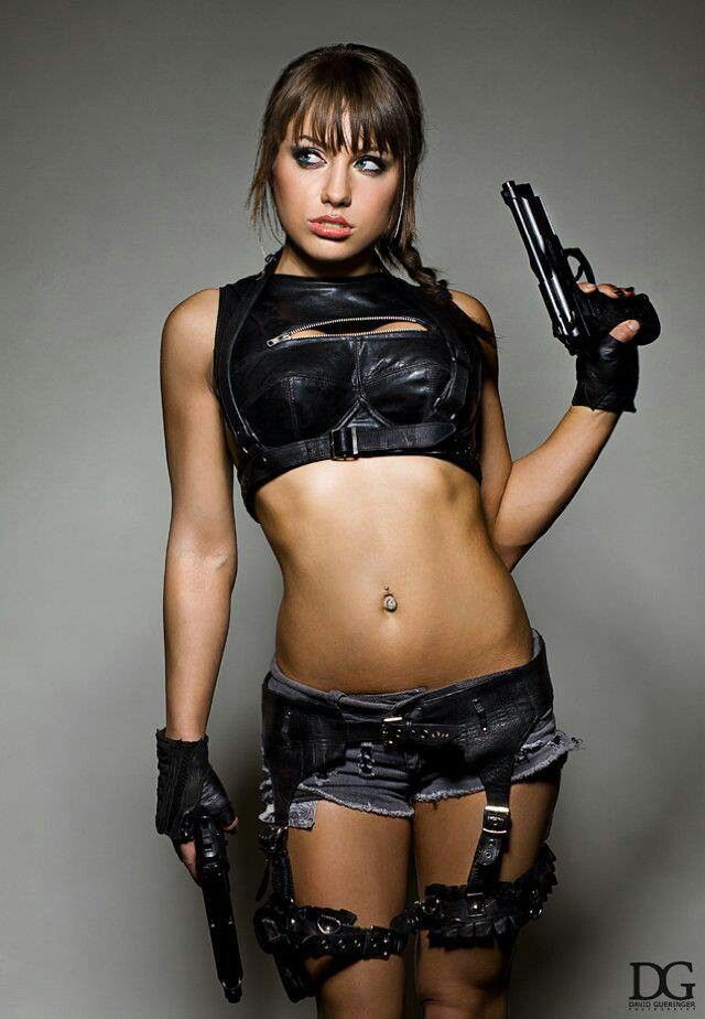 hot naked babes with guns gallery