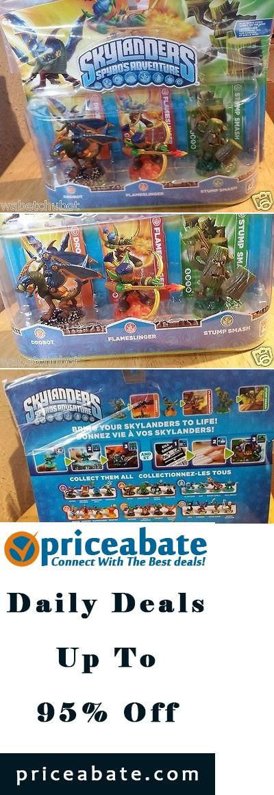 priceabate new skylanders spyros adventure 3 pack drobot flameslinger stump smash - Tous Les Skylanders