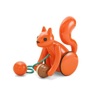 Nutty Squirrel pull along toy by Kid O.
