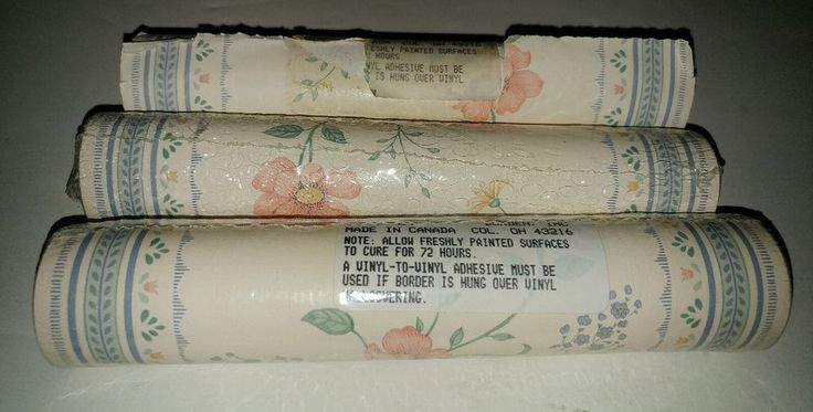Lot Of 3 flower design Wallpaper Border 15 Feet Each Roll Borden Inc. (45 Ft) #BordenInc