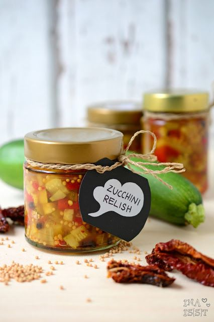 Ina Is(s)t: Selbstgemachtes Zucchini Relish /// DIY zucchini relish