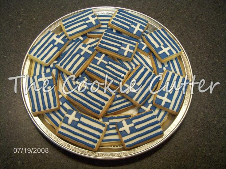 Greek Flag Cookies