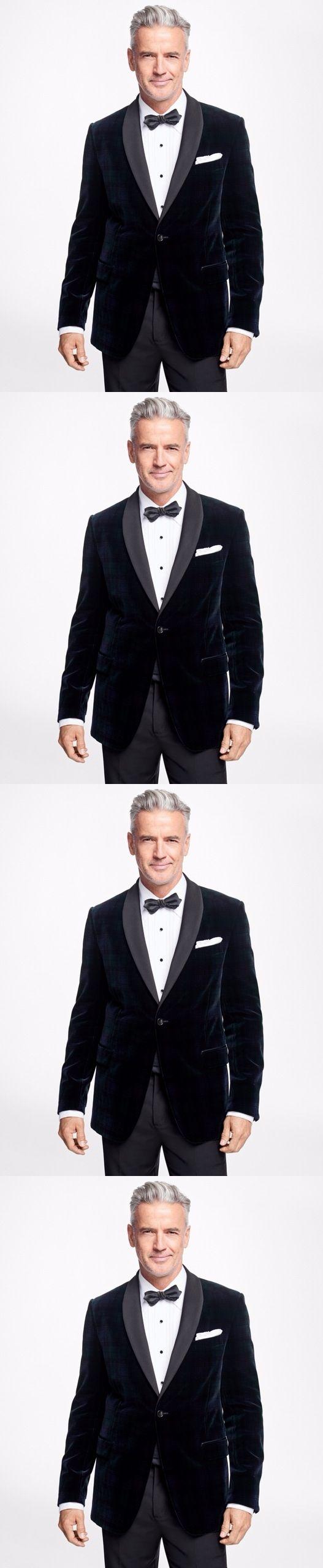 2017 Navy Blue Velvet Suits Jacket With Charcoal Pants Bespoke Shawl Lapel Men's Party Tuxedo Fashion Men Vestido (Jacket+Pants)