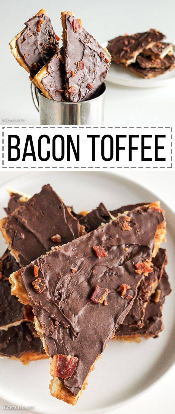 This Bacon Toffee is easy, delicious, and super addictive! Bacon adds a smoky, salty twist to a classic holiday favorite. Only five ingredients!