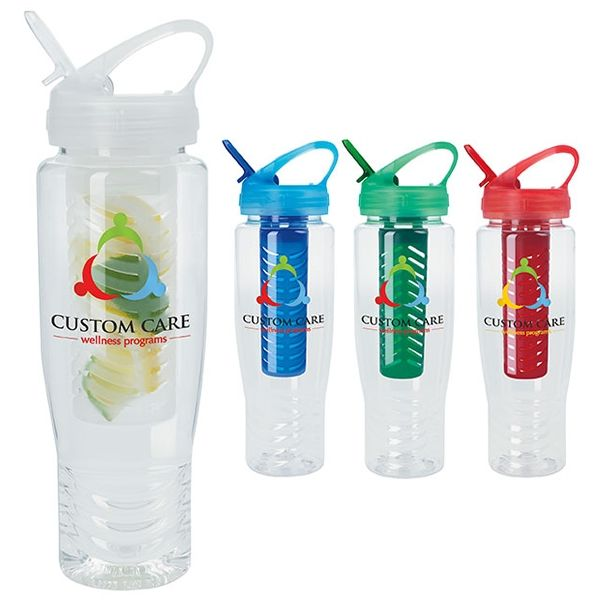 Promotional 28 oz. Fruit Infusion Sport Bottle | Customized 28 oz. Fruit Infusion Sport Bottle | Promotional Water Bottles
