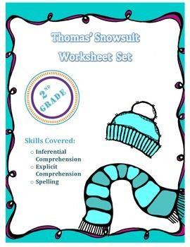 Worksheet Pack for Thomas' Snowsuit by Robert Munsch