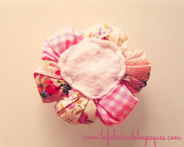 Hecho a mano: Flor de patchwork y floca