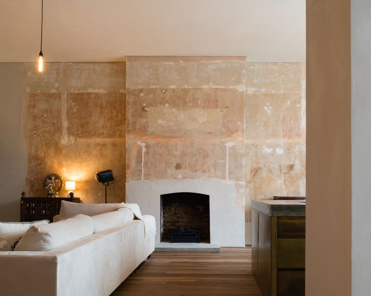 Refurbishment of terraced home in Belsize Park, London.   Living Space.   Interior Design.   Solid Timber Floor by Ted Todd. Polished Plaster by Calfe Crimmings. Joinery by Goldcrest of London. Photographer - Jim Stephenson. Contractor - Mallett Construction.