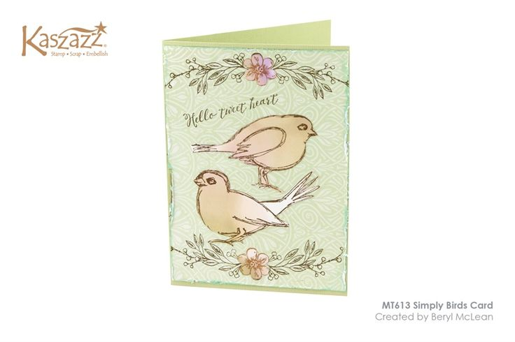 MT613 Simply Birds Card