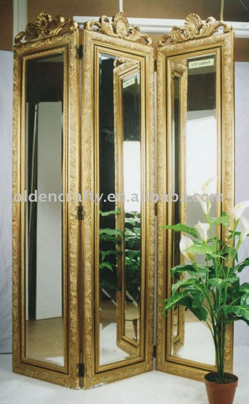 folding screen, room divider ... room divider and mirror at the same time is a perfect idea