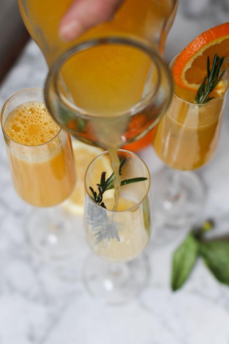 Mimosas con jengibre y romero (sin alcohol)  - Ebook 25 recetas de brunch saludables - www.chilemolepasta.com