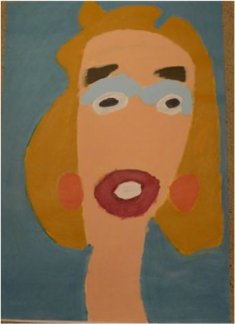 Patrick Francis - Lady 2014, acrylic on paper