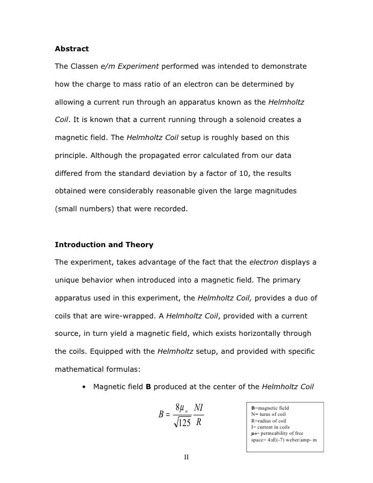 Example Of Lab Report Abstract Writing Academic For