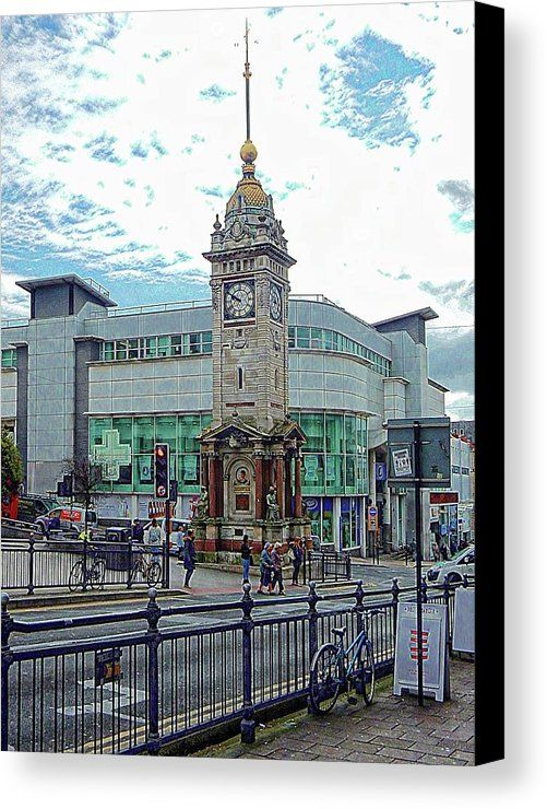 Canvas Print featuring the photograph The Clock Tower Brighton by Dorothy Berry-Lound
