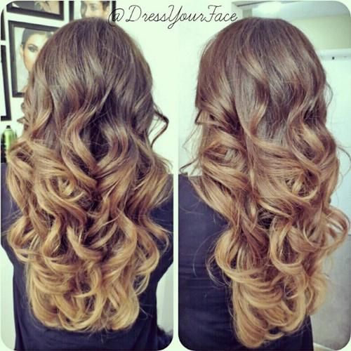 Balayage Ombre Layers and curls!