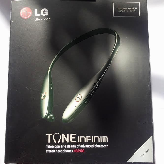 New LG TONE HBS900 Wireless Bluetooth Headset Neckband - Silver - Free Shipping! #LG SALE!