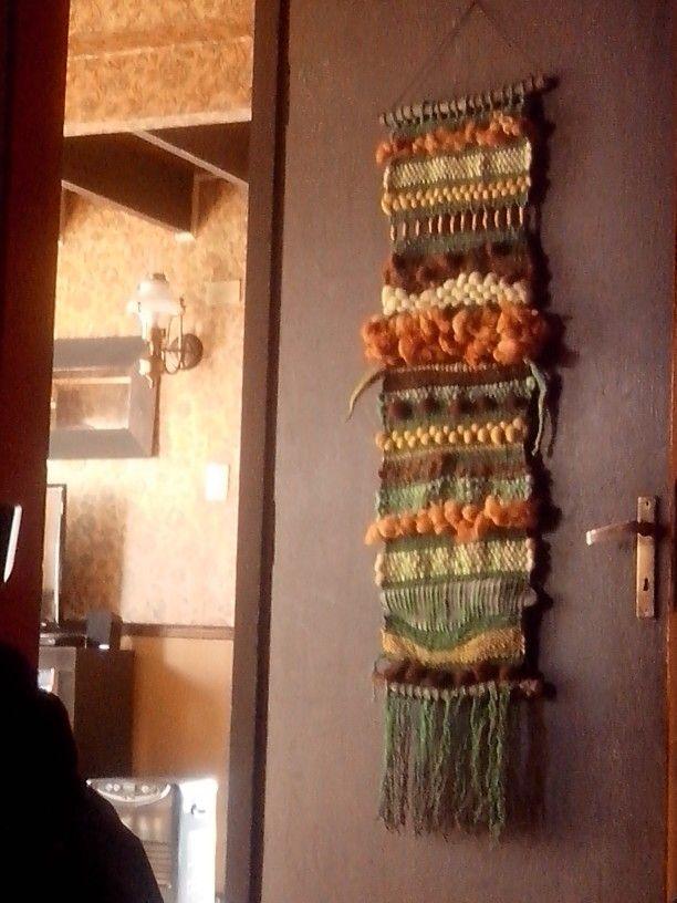Mural telar con lanas naturales