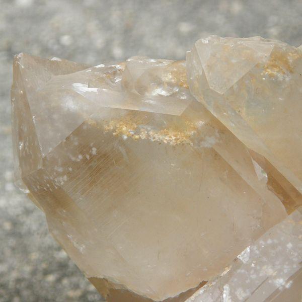 Inclusions in Arkansas Quartz Crystal specimen