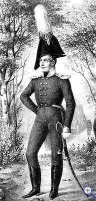Обер-офицер Лубенского гусарского полка в виц-мундире, 1808-1810 годы.