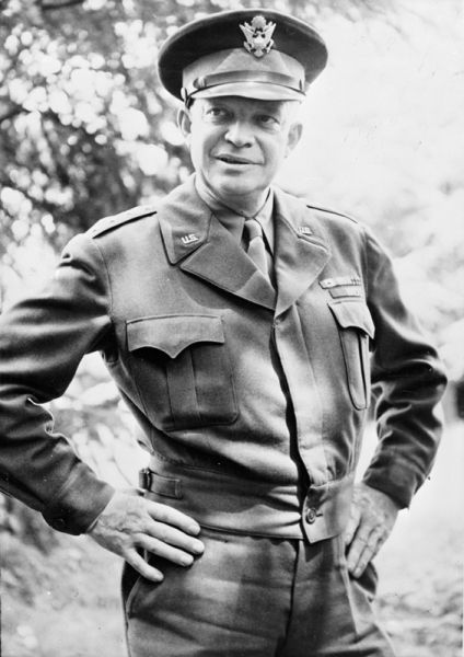 The 50's-- General Dwight D Eisenhower, was elected President for the last time in 1956 when he beat Stevenson. Eisenhower was also the creator/designer of the Bay of Pigs operation before it was implemented by Kennedy.