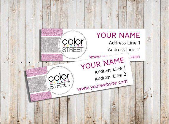Color Street Return Address Labels Printable Personalized Return