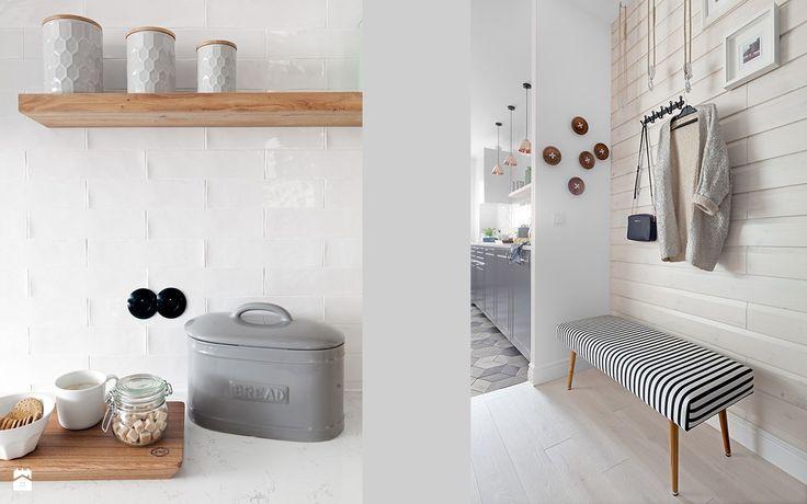 Wystrój wnętrz - Hol / przedpokój - styl Skandynawski. Projekty i aranżacje najlepszych designerów. Prawdziwe inspiracje dla każdego, dla kogo liczy się dobry gust i nieprzeciętne rozwiązania w nowoczesnym projektowaniu i dekorowaniu wnętrz. Obejrzyj zdjęcia!