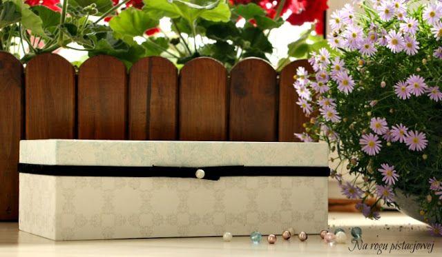 Na rogu pistacjowej: pudełko na chusteczki - decoupage