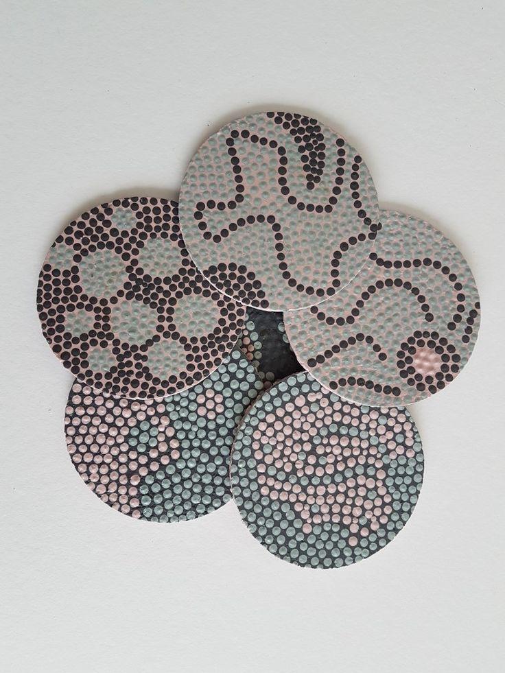 Onderzetters - Dotting Techniek - Waterafstotend