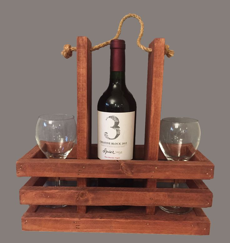 Portable Wine Caddy-Rope Handle