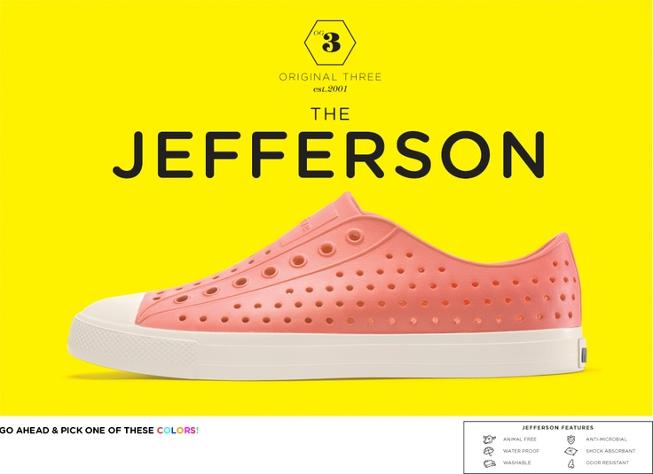 I know what I'll be wearing next #summer. They come in dozens of colors. Jefferson #shoe by Native Shoes