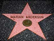 Marian Anderson - Hollywood Star Walk (South side of the 6200 block of Hollywood Blvd.)