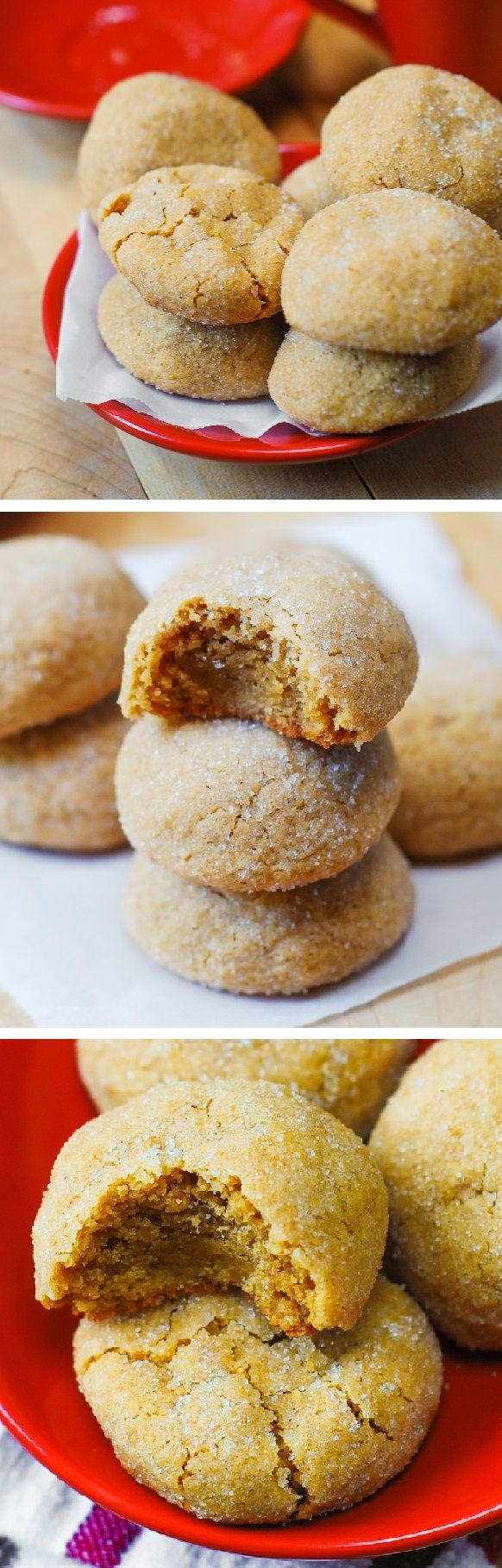 The best peanut butter cookies! Delicious brownie-like texture: chewy and soft at the same time