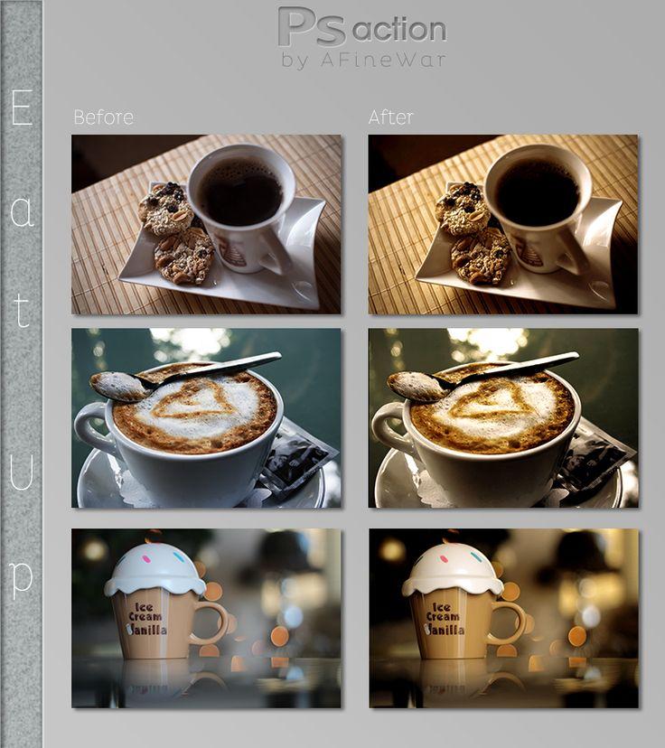 مجموعة من الاكشن و العمليات للفوتوشوب Photoshop Action تحميل مباشر Eat Photoshop Actions Photoshop