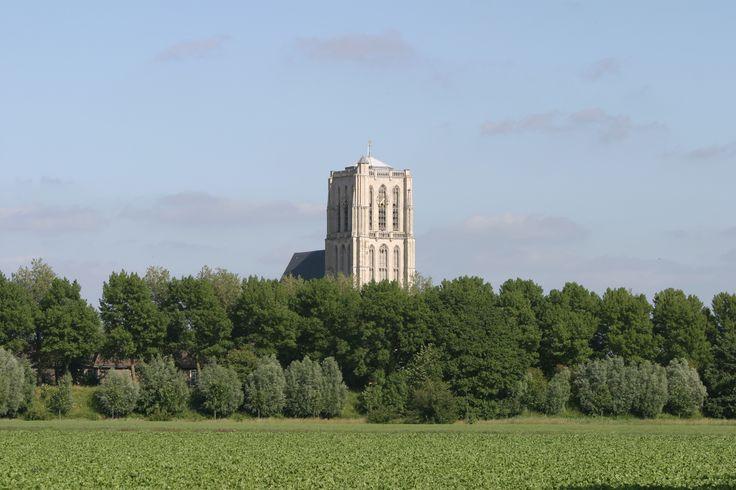Brielle - zicht op de St. Catharijnekerk
