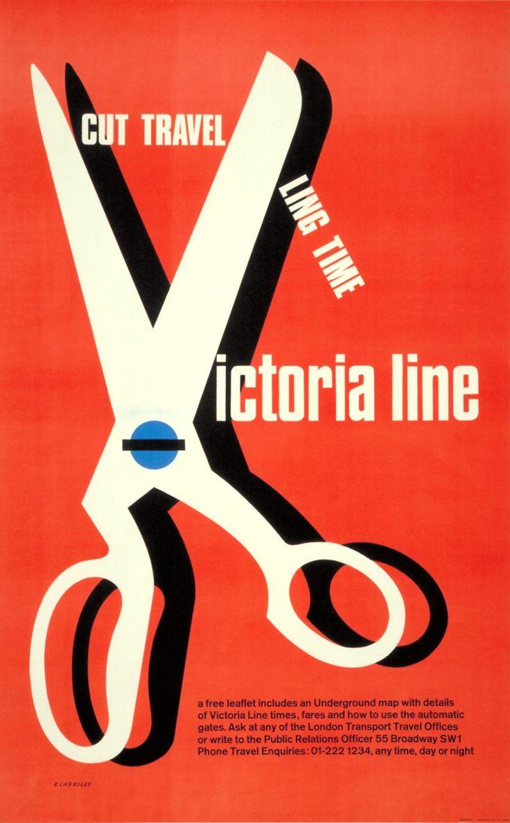 Victoria line 1969 by Tom Eckersley