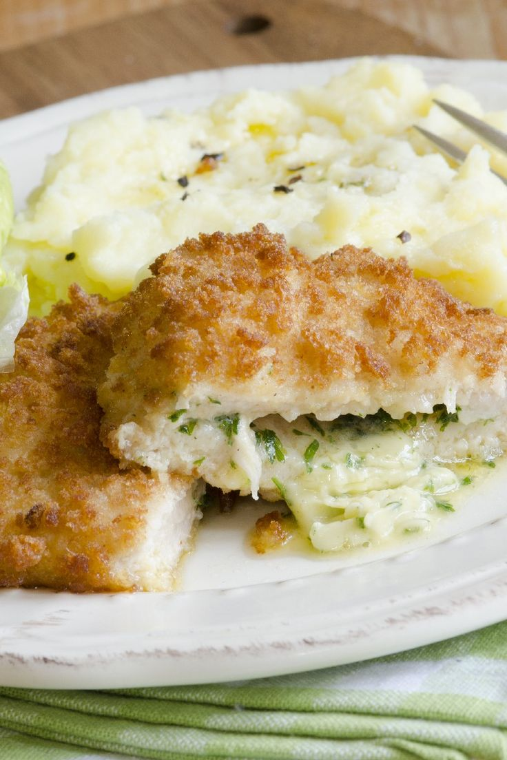 Chicken Kiev - use coconut or arrowroot flour instead of the flour and crushed pork rinds instead of the breadcrumbs. Looks yummy!